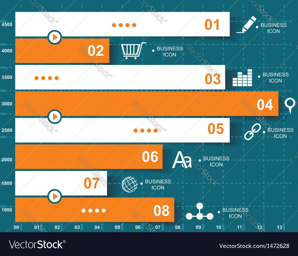 Retro infographics set vector | Price: 1 Credit (USD $1)