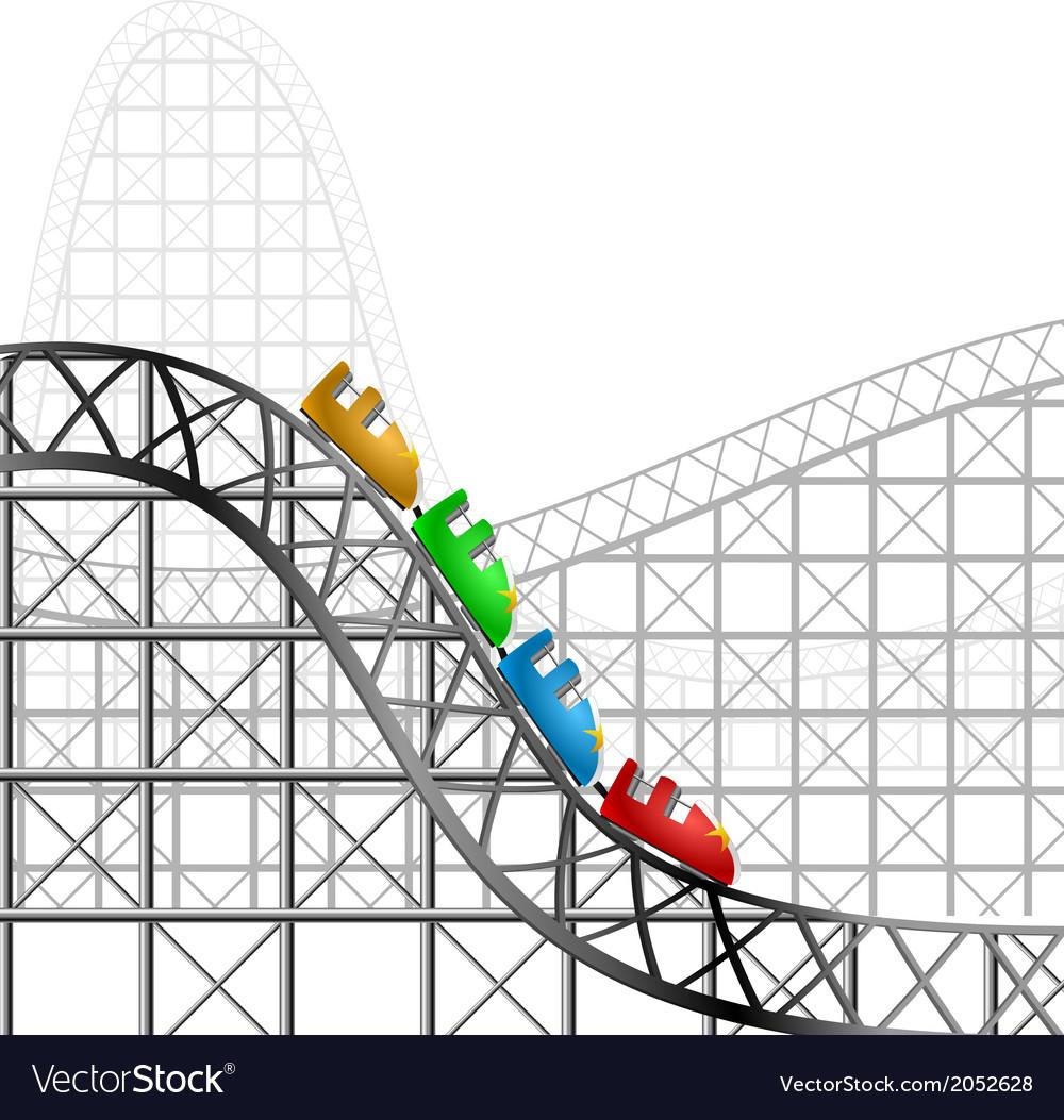 Roller coaster vector | Price: 1 Credit (USD $1)