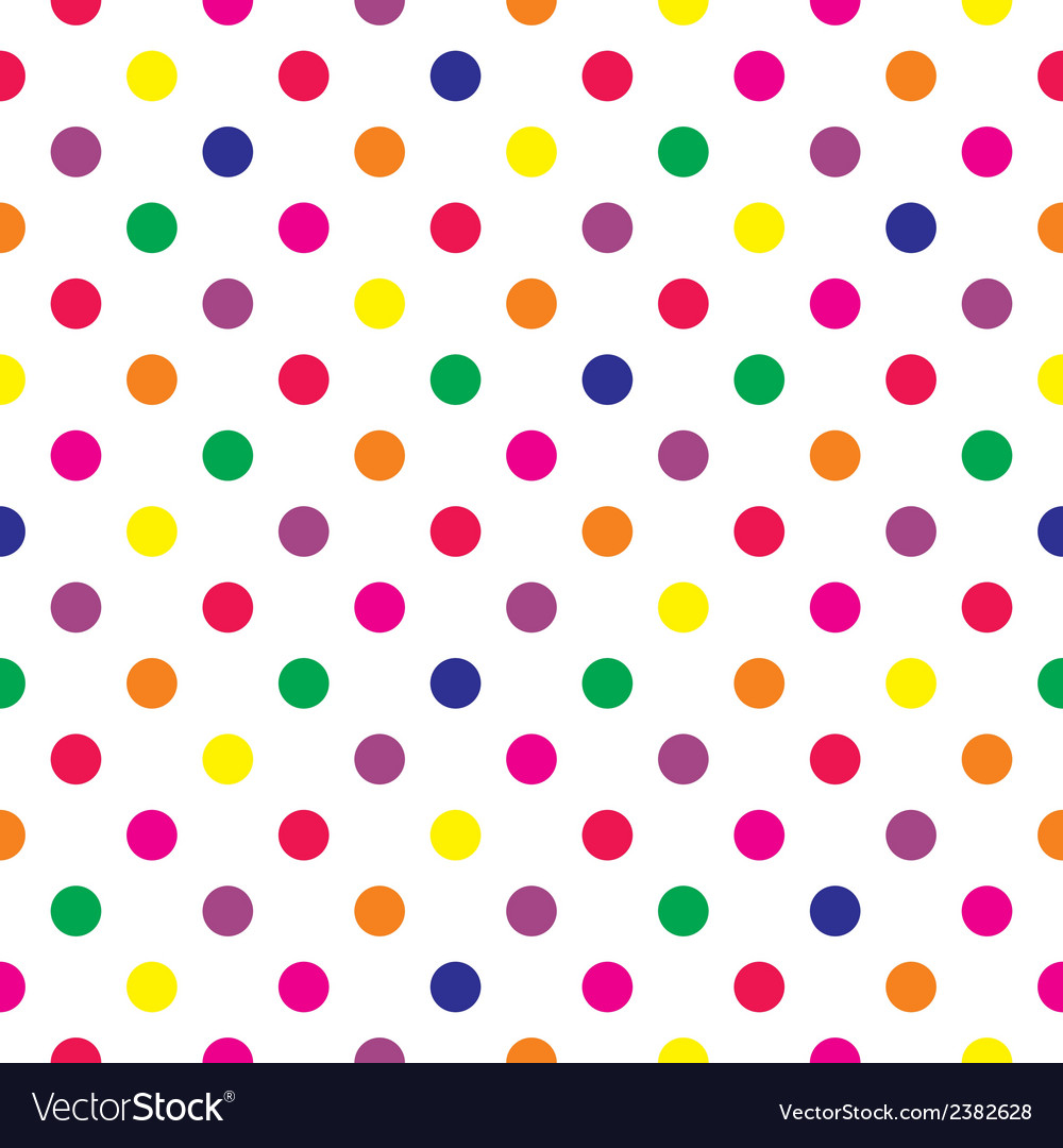Tile pattern with polka dots on white background vector | Price: 1 Credit (USD $1)