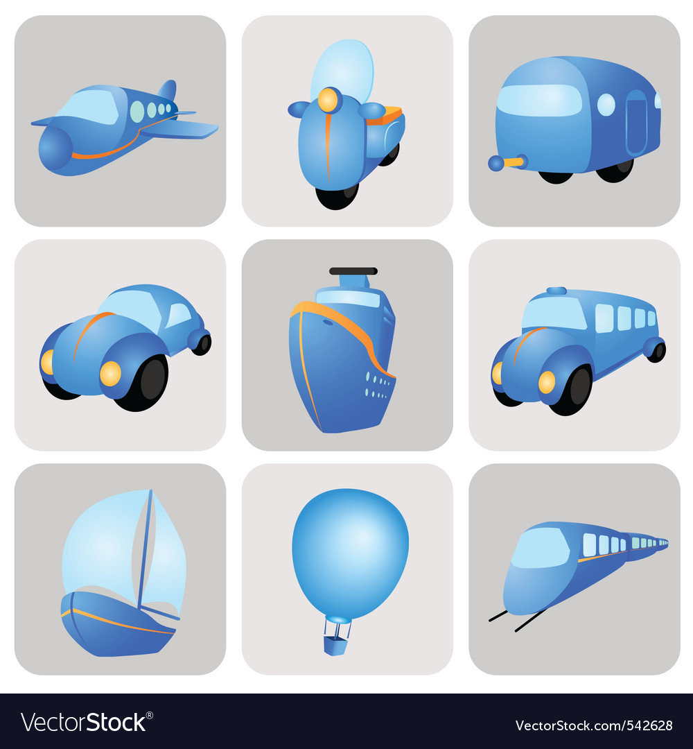 Transportation icons vector | Price: 1 Credit (USD $1)