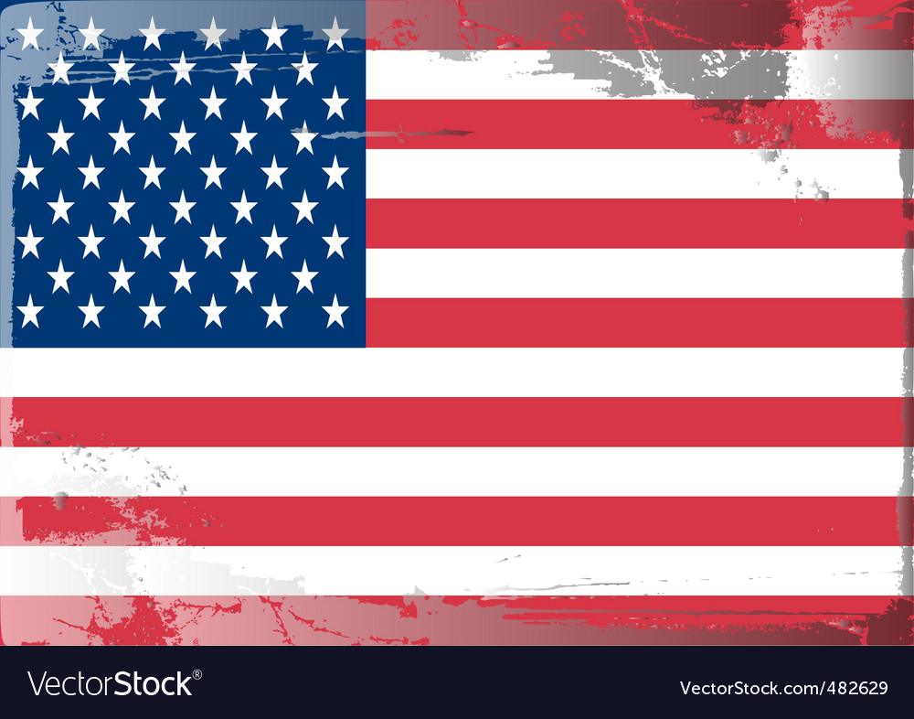 America national flag vector   Price: 1 Credit (USD $1)