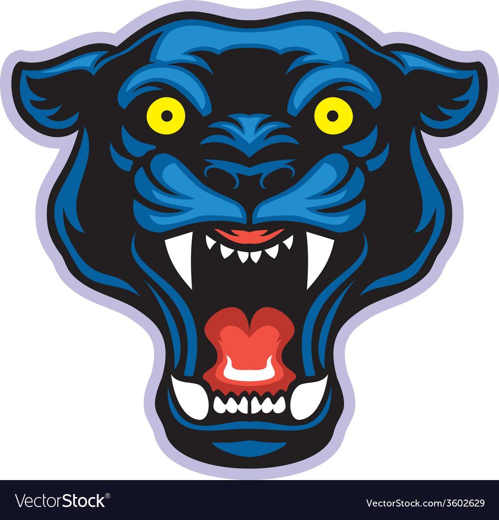 Black panther mascot vector | Price: 3 Credit (USD $3)