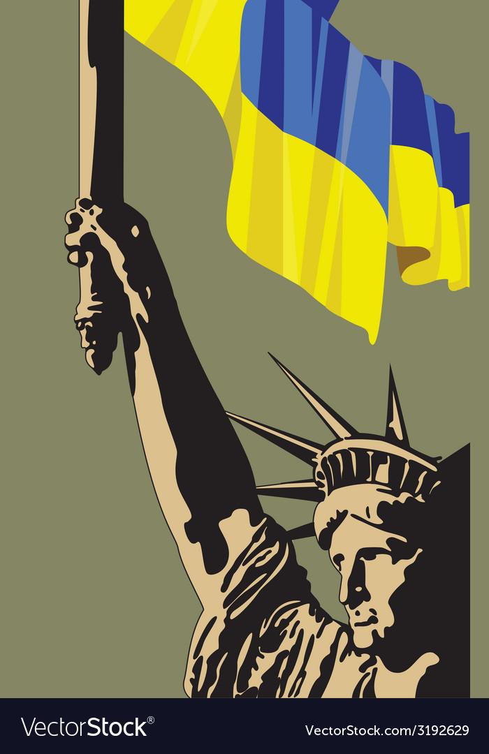 Call for democracy in ukraine vector | Price: 1 Credit (USD $1)