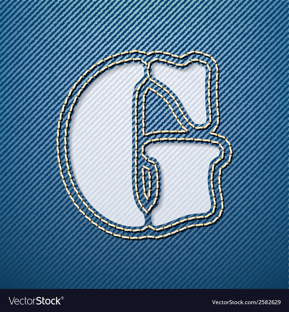 Denim jeans letter g vector | Price: 1 Credit (USD $1)