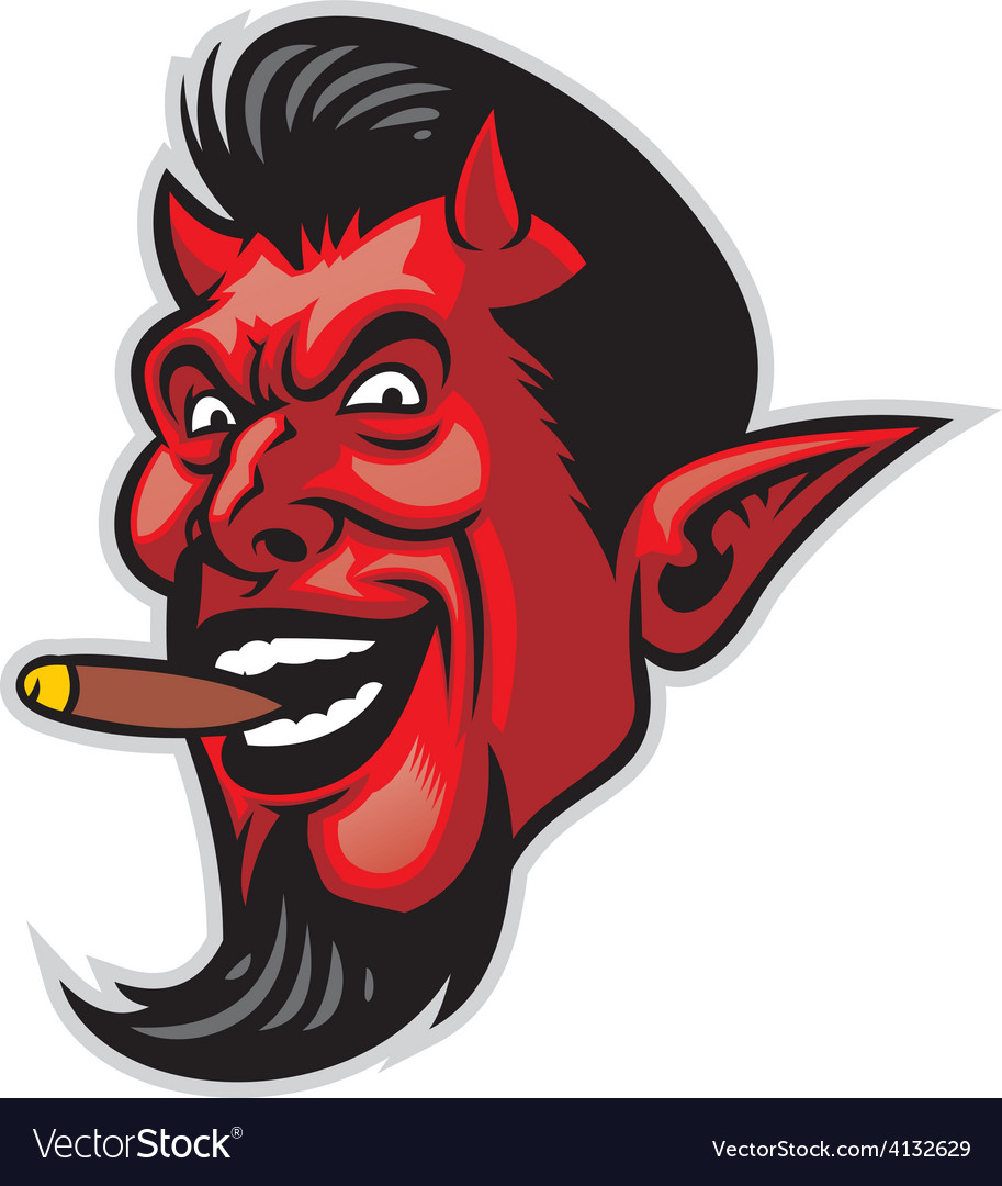 Devil head vector | Price: 3 Credit (USD $3)