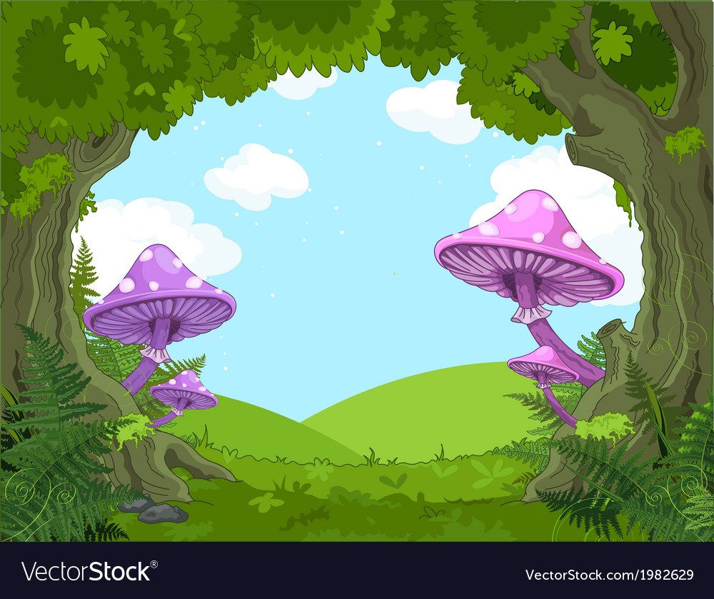 Fantasy landscape vector | Price: 1 Credit (USD $1)