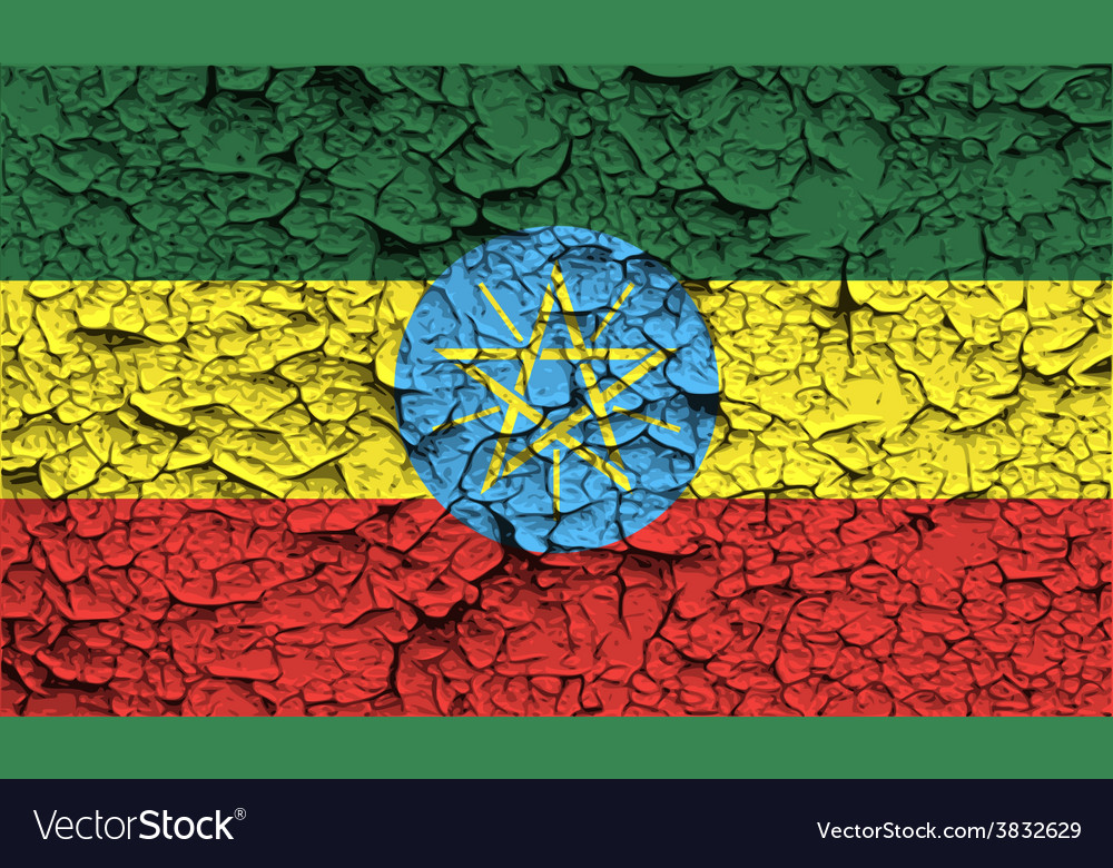 Flag of ethiopia with old texture vector | Price: 1 Credit (USD $1)