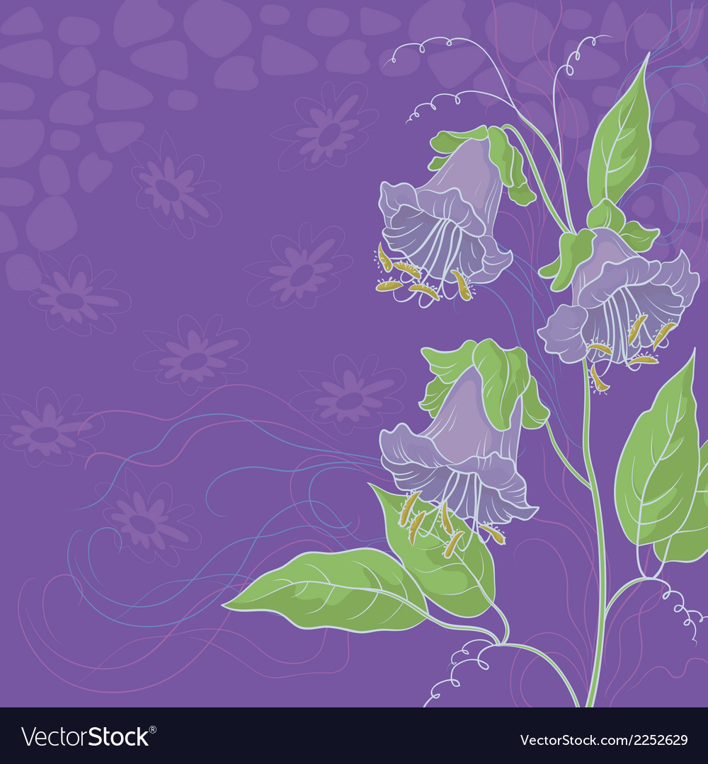 Flowers kobe and abstract pattern vector | Price: 1 Credit (USD $1)