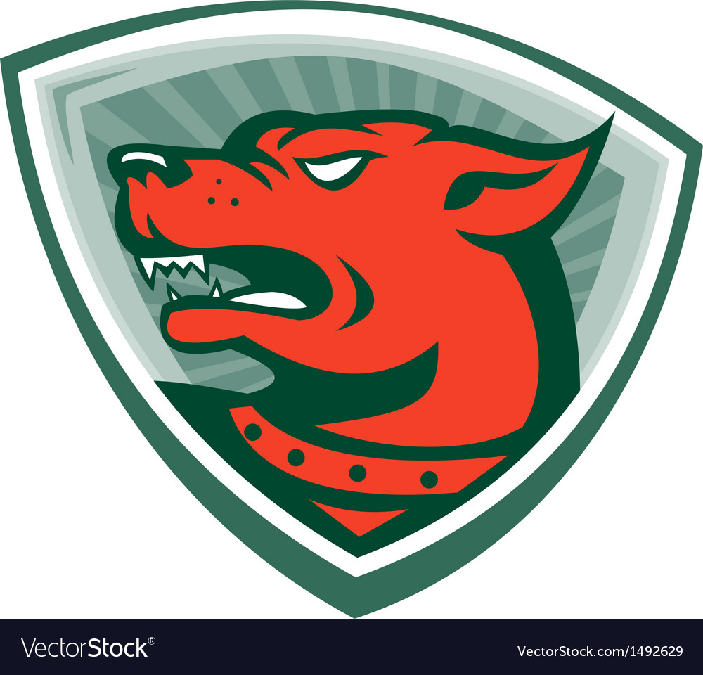 Mastiff dog mongrel head crest vector | Price: 1 Credit (USD $1)