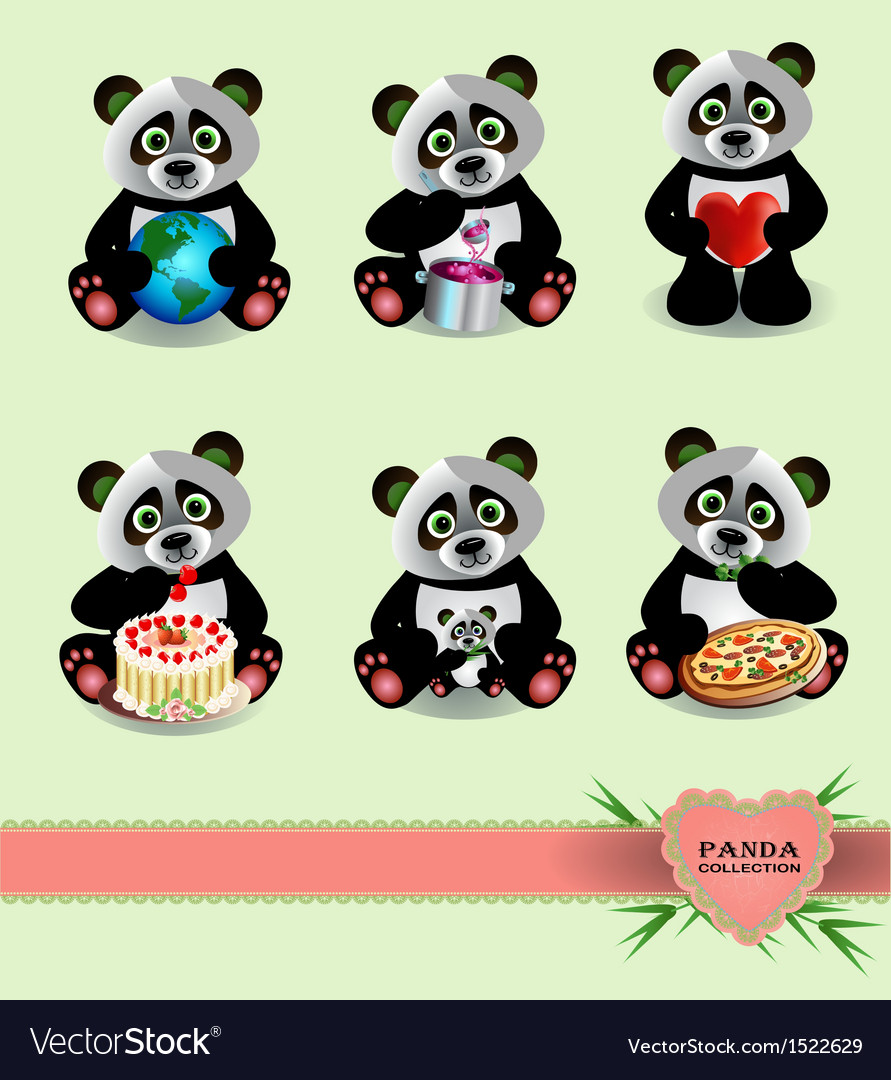 Panda collection vector | Price: 3 Credit (USD $3)