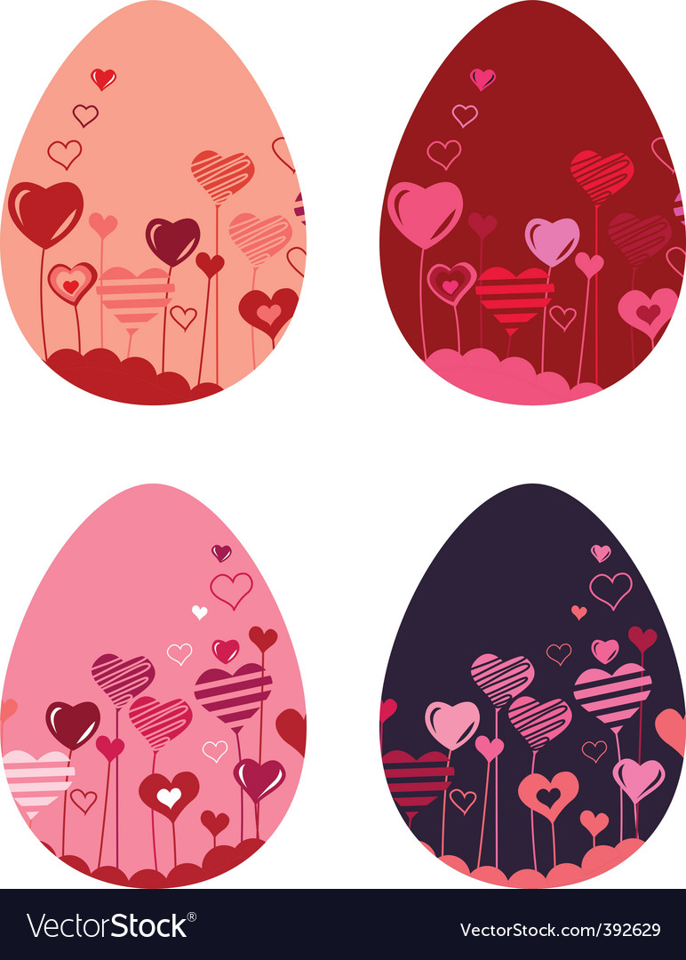 Set of different easter eggs vector | Price: 1 Credit (USD $1)