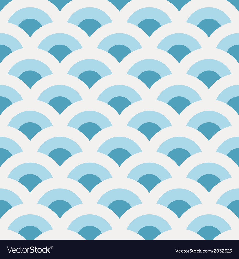 Vintage abstract sea waves pattern vector | Price: 1 Credit (USD $1)