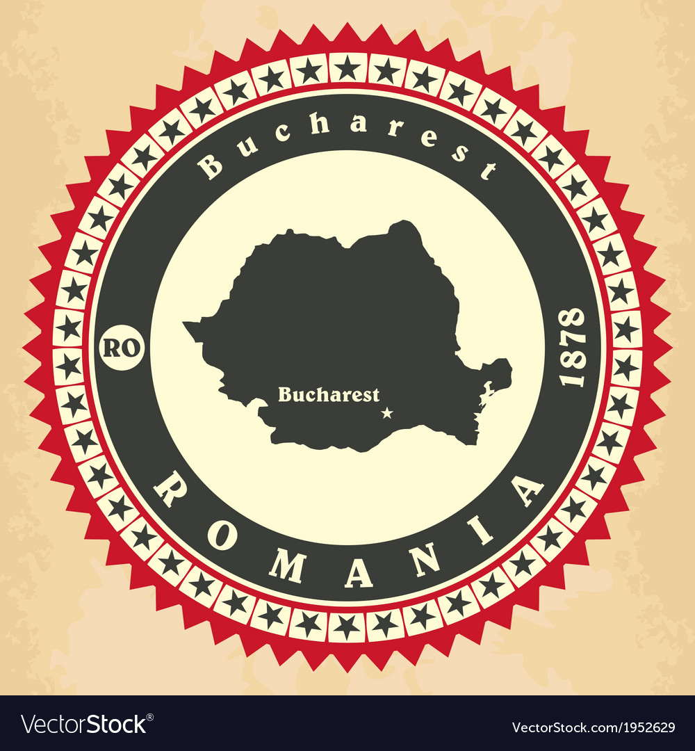 Vintage label-sticker cards of romania vector | Price: 1 Credit (USD $1)
