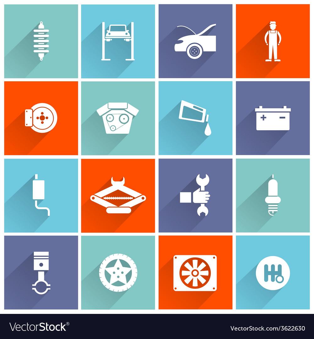 Auto service flat icon vector | Price: 1 Credit (USD $1)