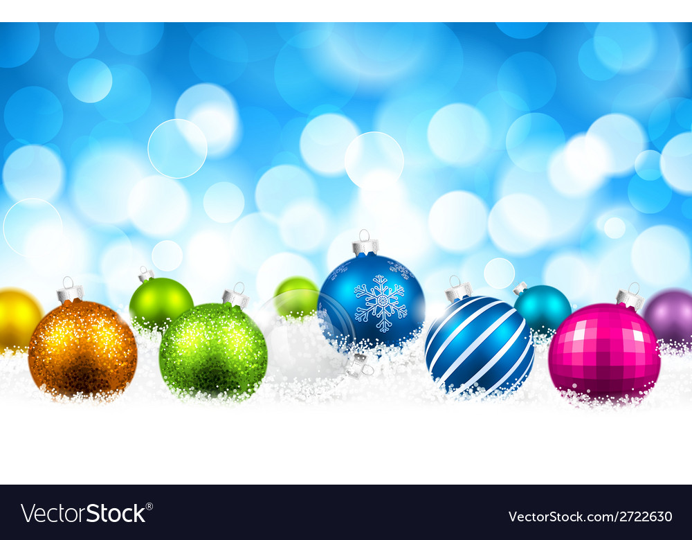 Christmas color balls vector | Price: 1 Credit (USD $1)