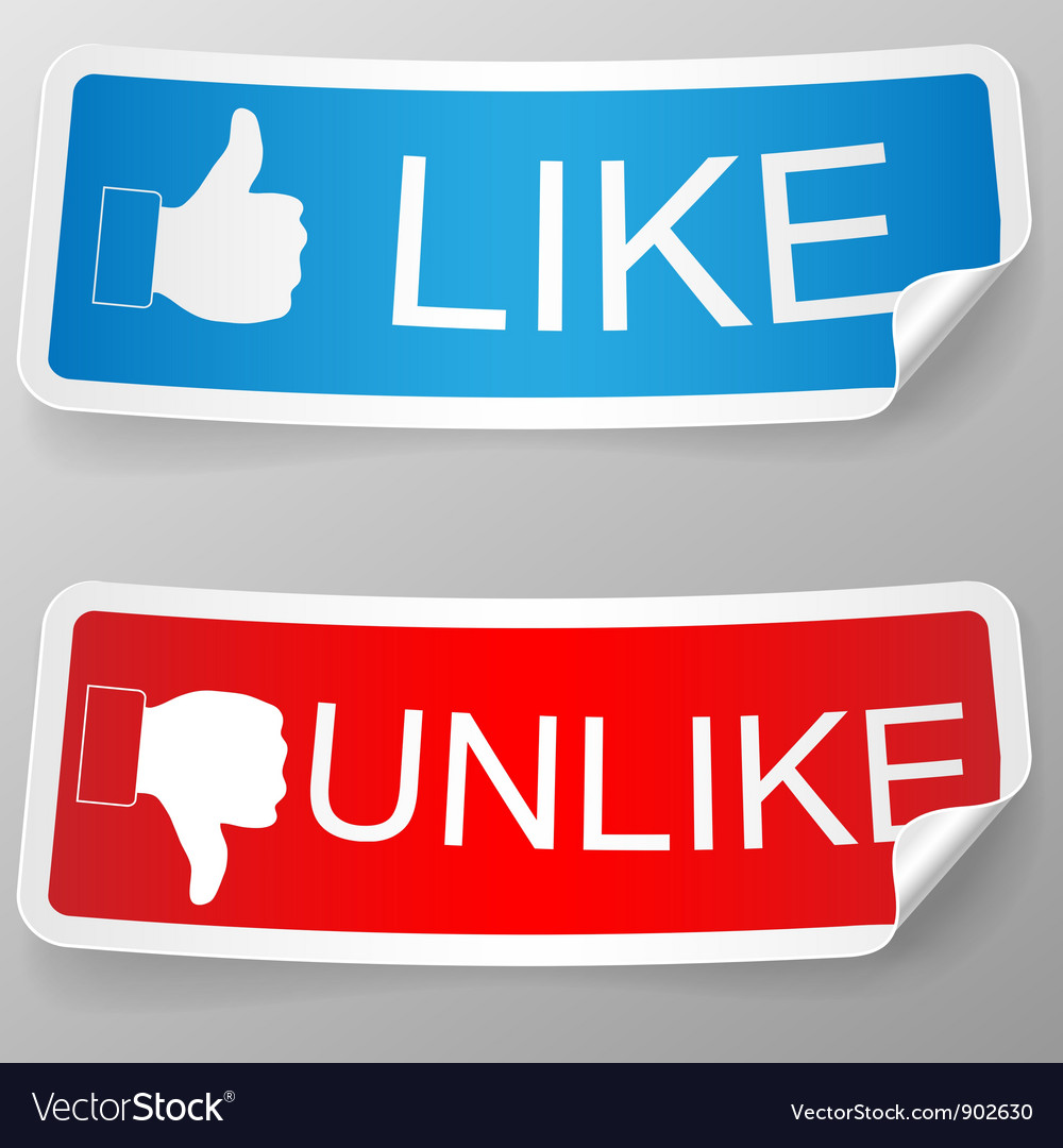 Like and unlike label vector | Price: 3 Credit (USD $3)
