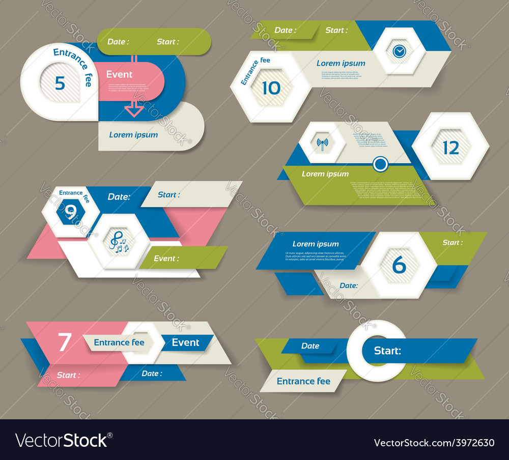 Modern infographics options banner can be used vector | Price: 1 Credit (USD $1)