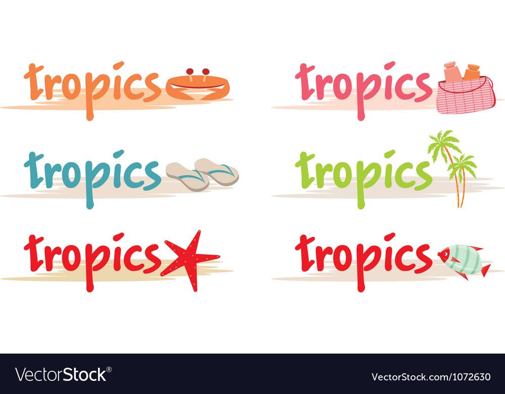 Rest symbols in tropics vector | Price: 1 Credit (USD $1)