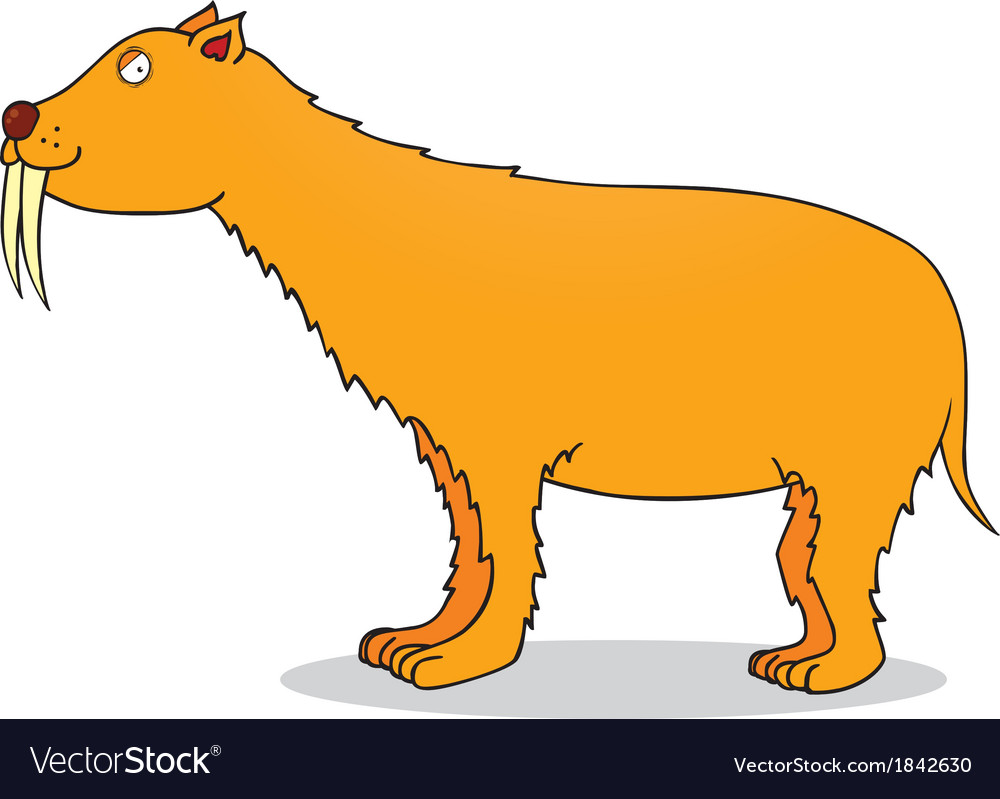 Saber toothed tiger vector | Price: 1 Credit (USD $1)