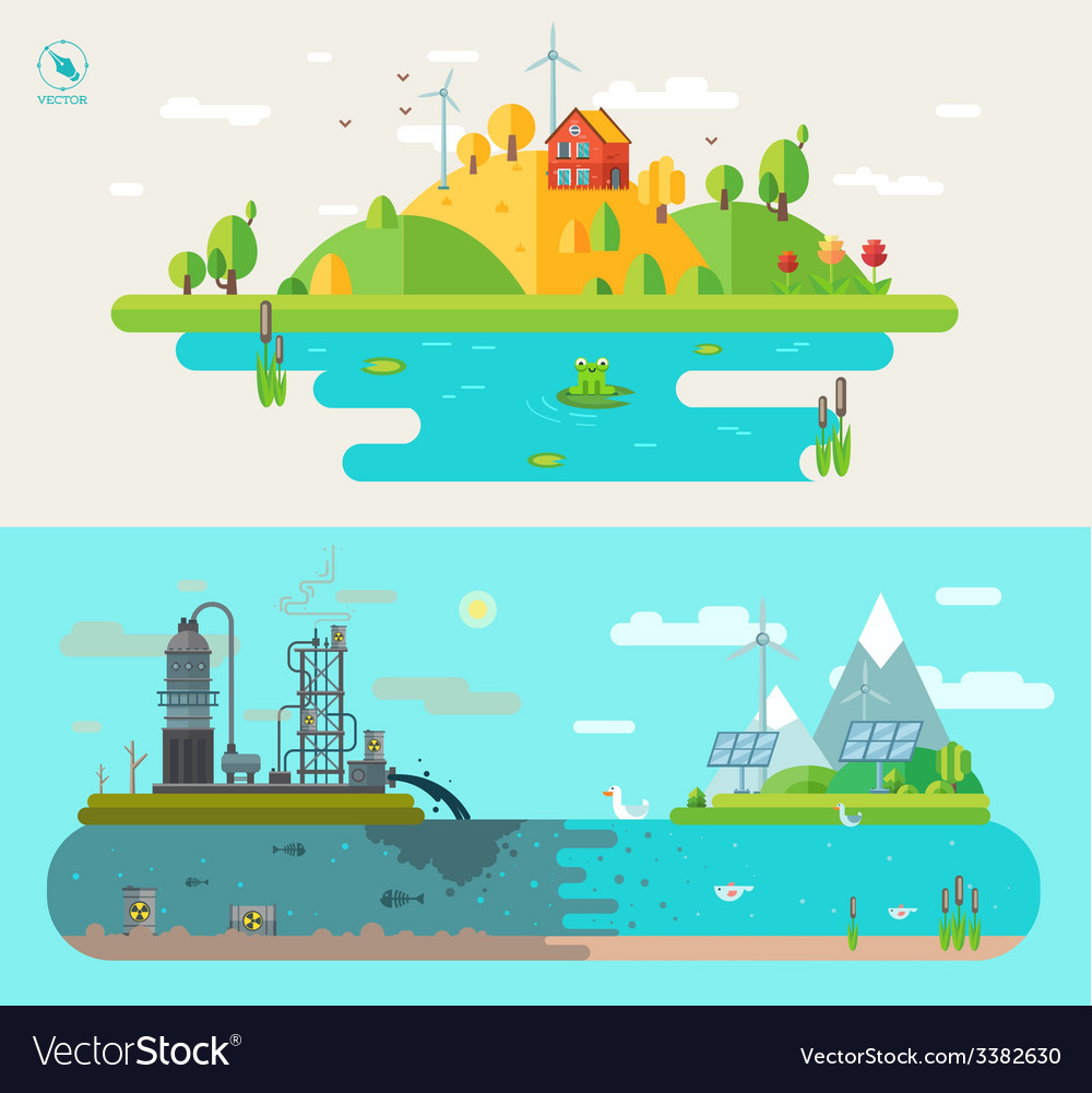 Set of flat design concept vector | Price: 3 Credit (USD $3)