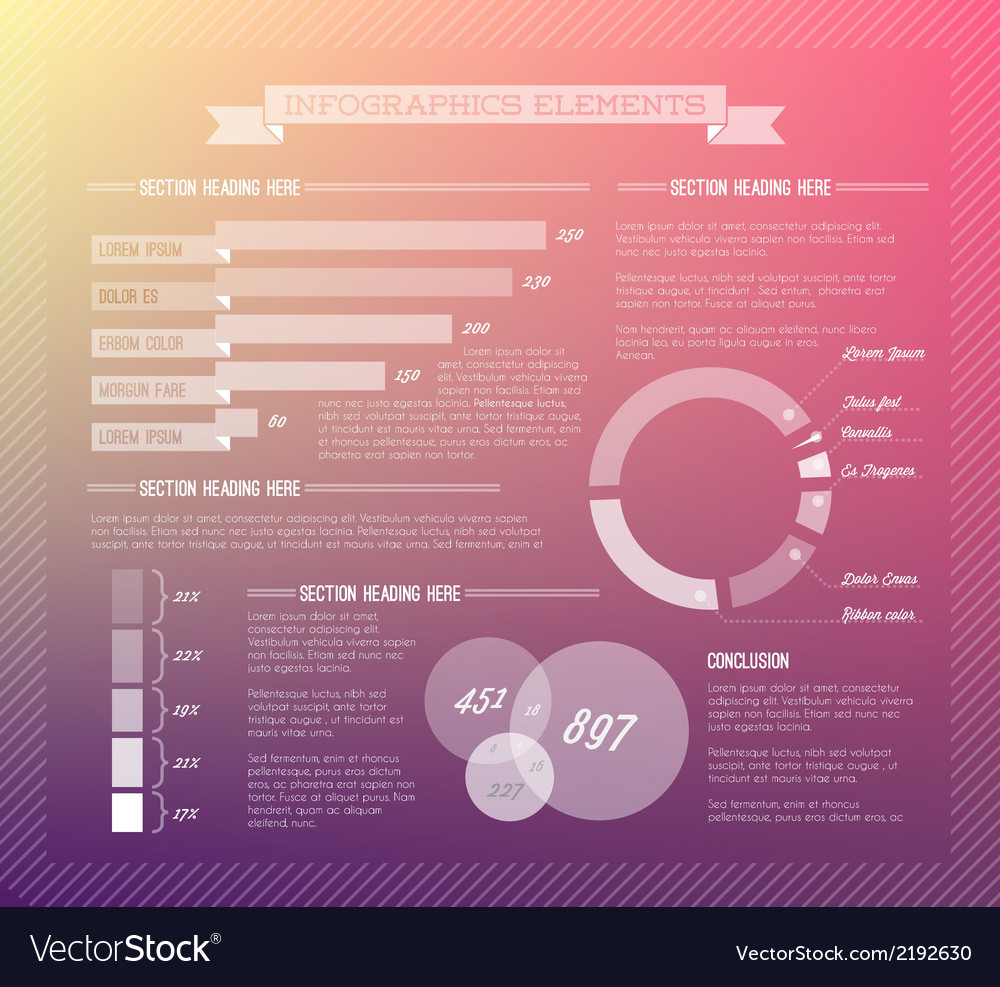 Transparent set of infographic elements vector | Price: 1 Credit (USD $1)
