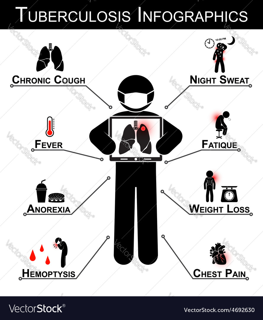 Tuberculosis tb infographics vector