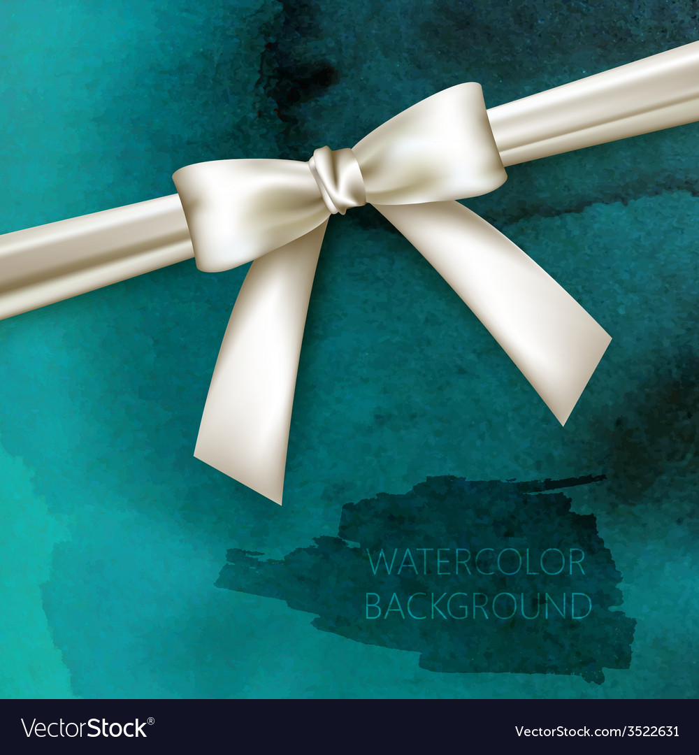 Abstract watercolor background with white bow and vector | Price: 1 Credit (USD $1)