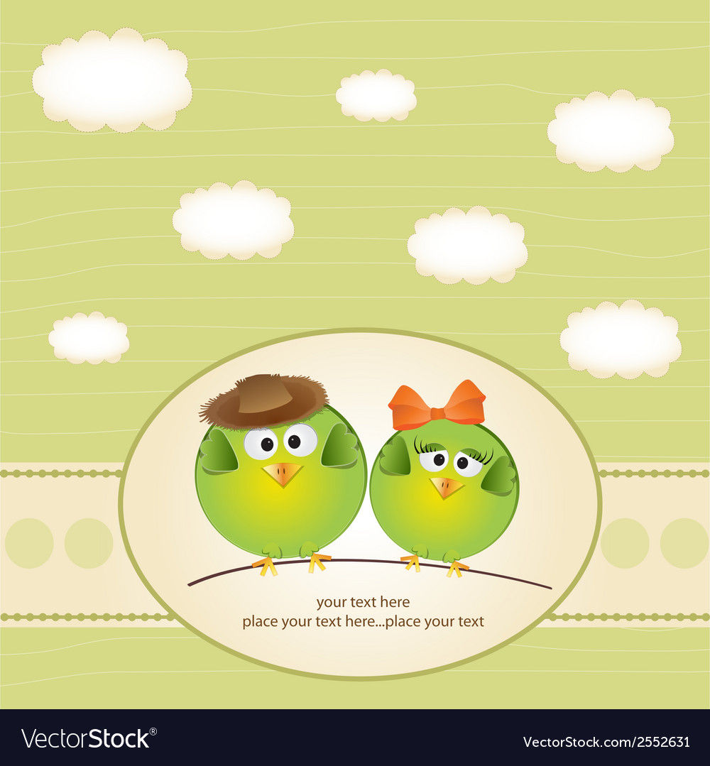 Birds couple in love vector | Price: 1 Credit (USD $1)