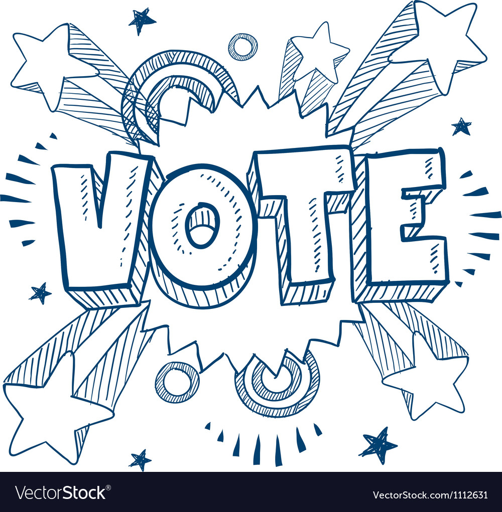 Doodle pop vote vector | Price: 1 Credit (USD $1)