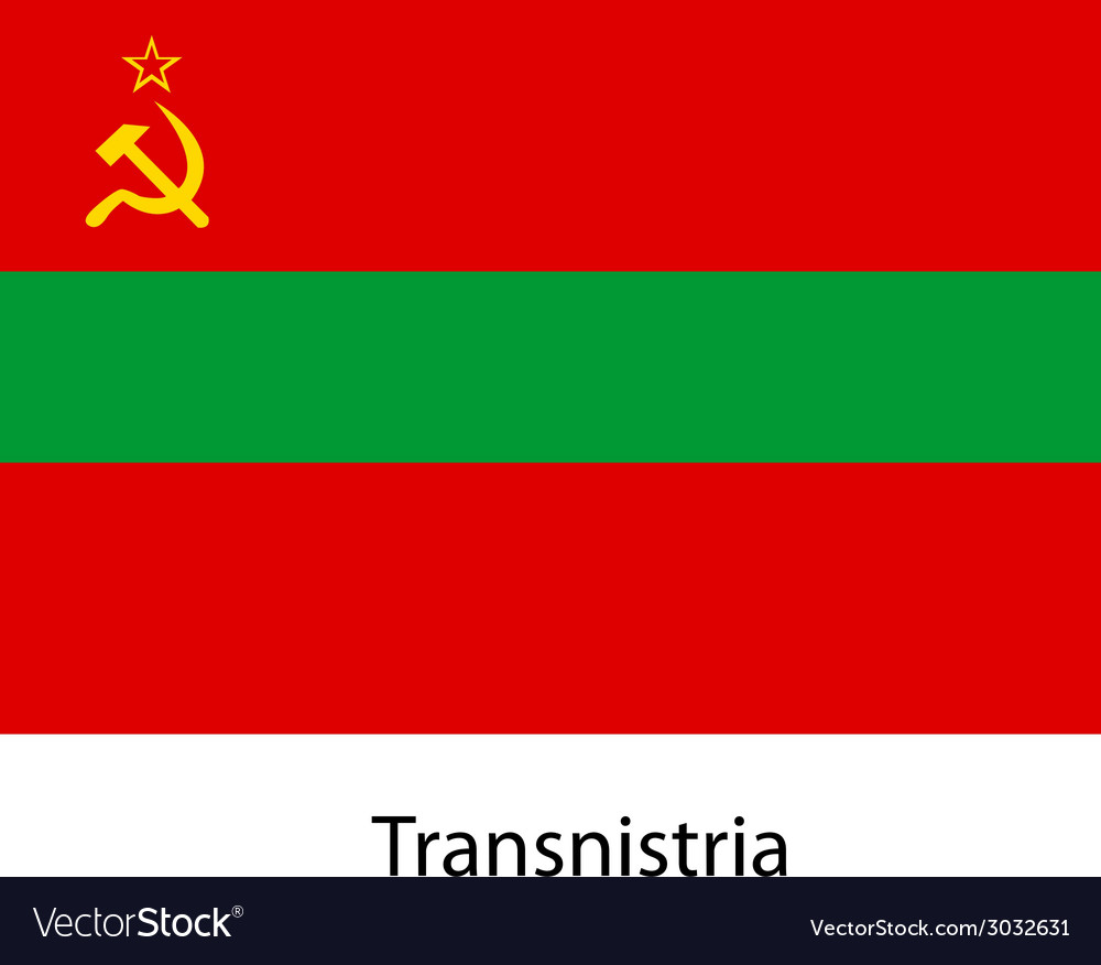 Flag of the country transnistria vector | Price: 1 Credit (USD $1)