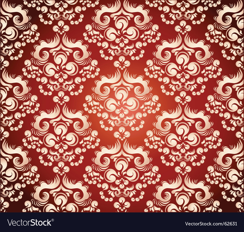 Floral ornament wallpaper vector | Price: 1 Credit (USD $1)