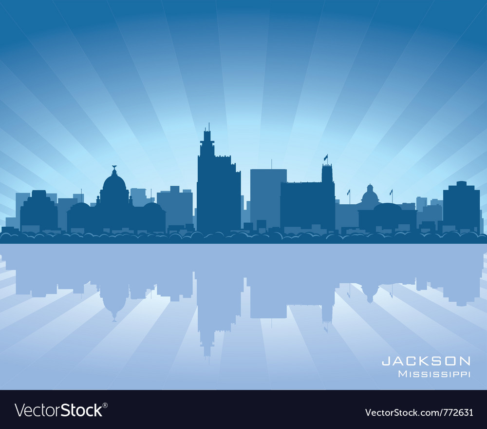 Jackson mississippi skyline vector | Price: 1 Credit (USD $1)