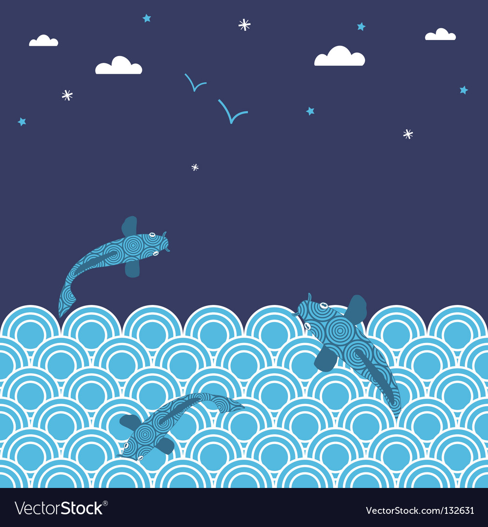 Jumping fish vector | Price: 1 Credit (USD $1)