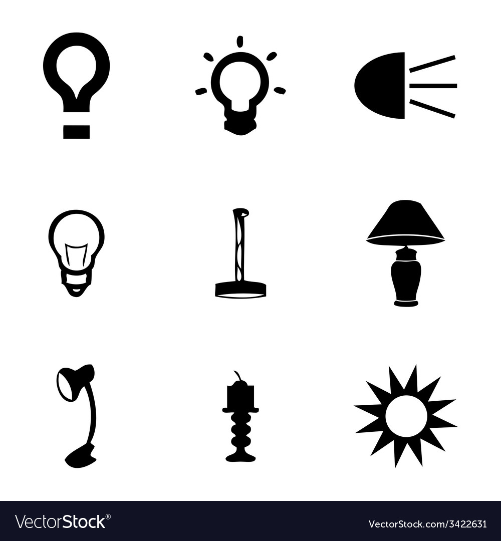 Light icons set vector | Price: 1 Credit (USD $1)