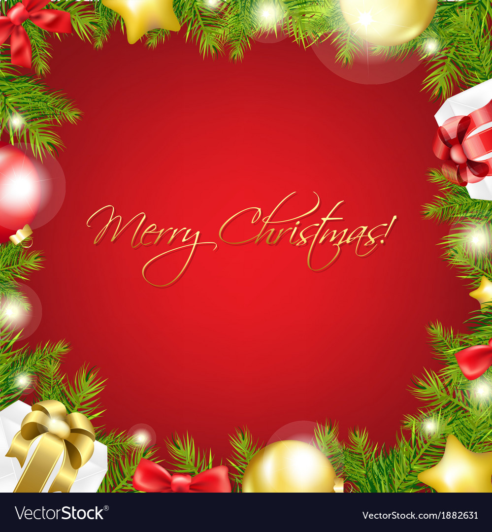 Merry christmas red wallpaper vector | Price: 1 Credit (USD $1)