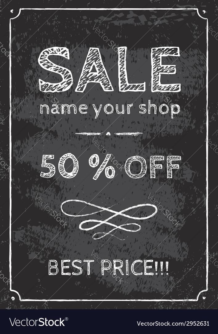 Sale chalk vector   Price: 1 Credit (USD $1)
