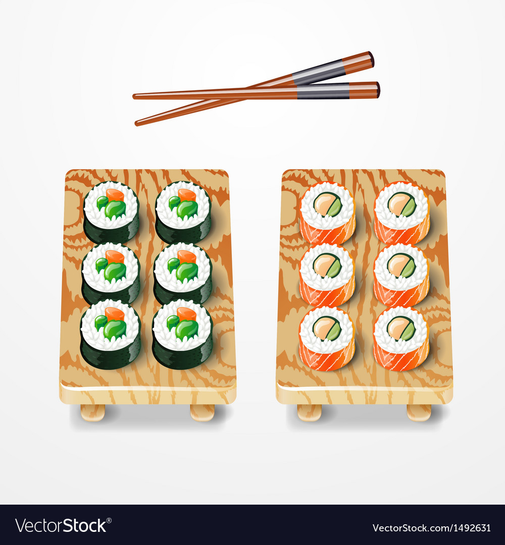 Sushi set philadelphia classic vector