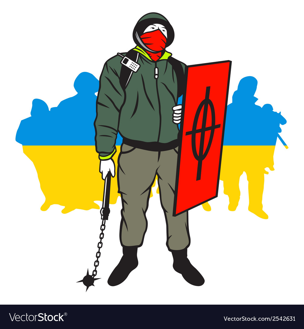 Ukrainian maidan man vector | Price: 1 Credit (USD $1)