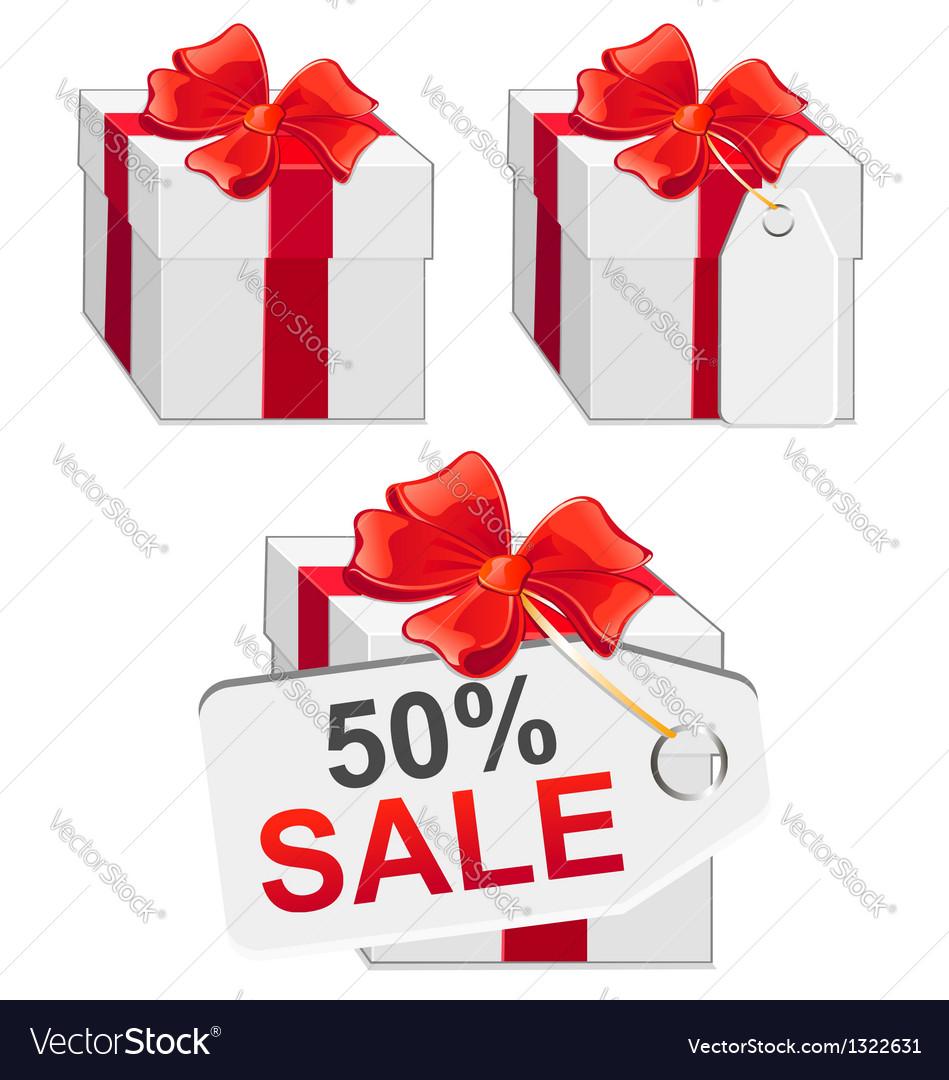 White sale present vector | Price: 1 Credit (USD $1)