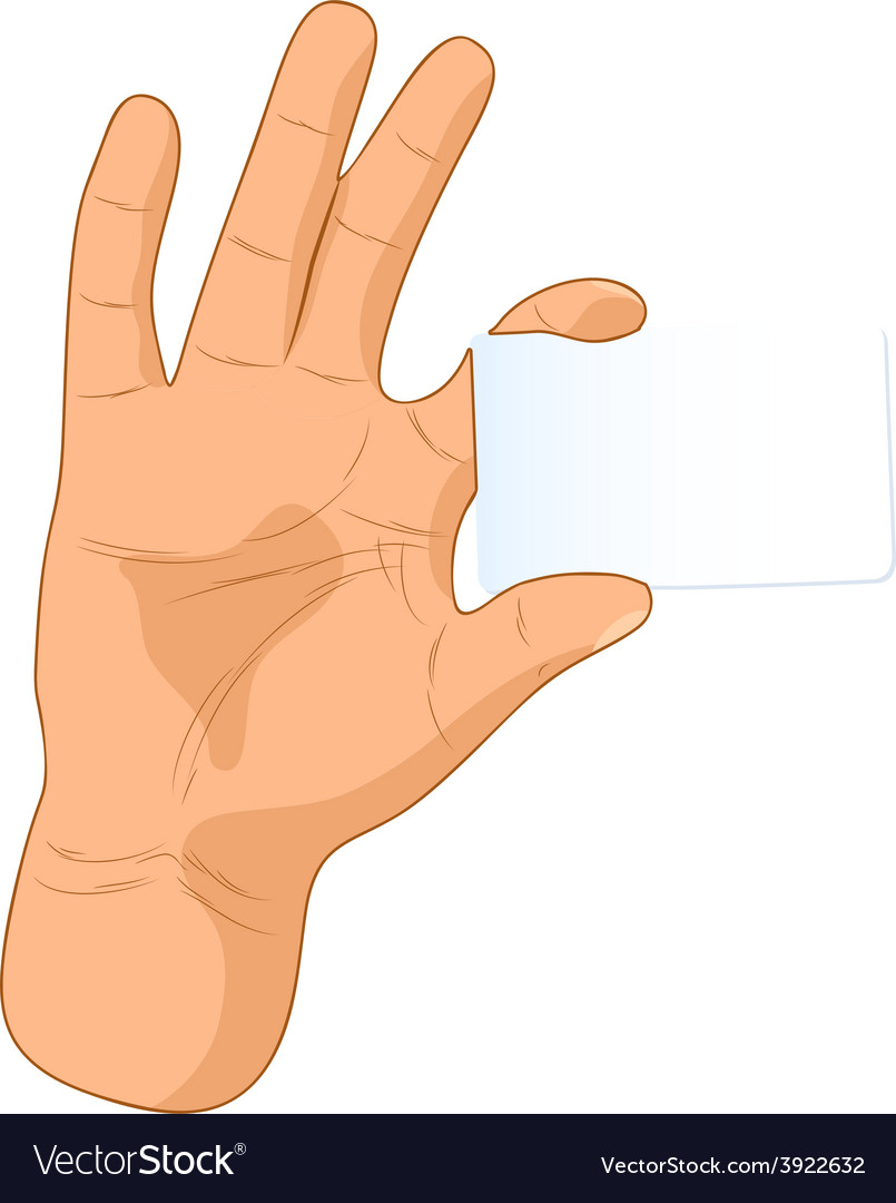 Card in a hand vector | Price: 1 Credit (USD $1)