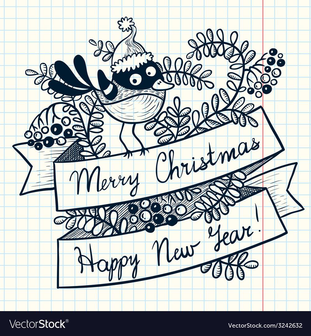 Christmas ribbon vector | Price: 1 Credit (USD $1)