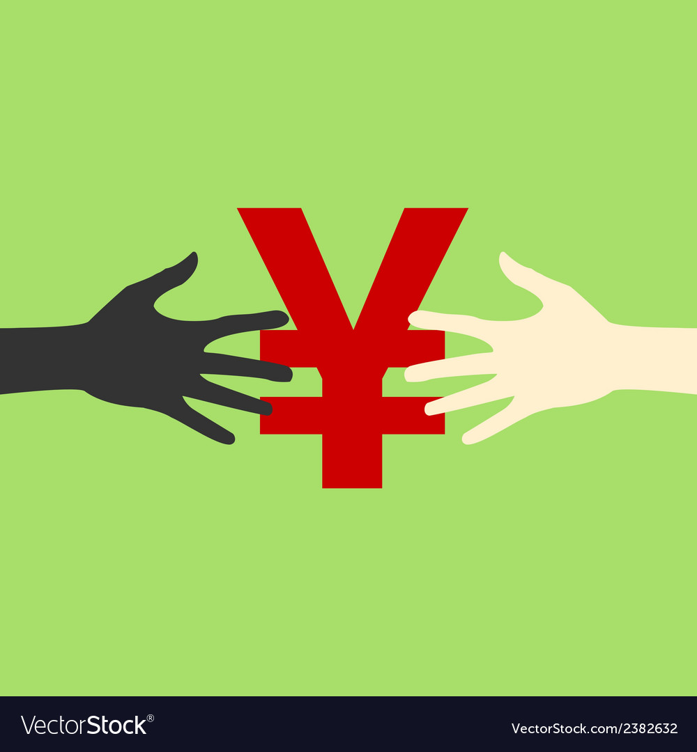 Hands and money print eps vector   Price: 1 Credit (USD $1)