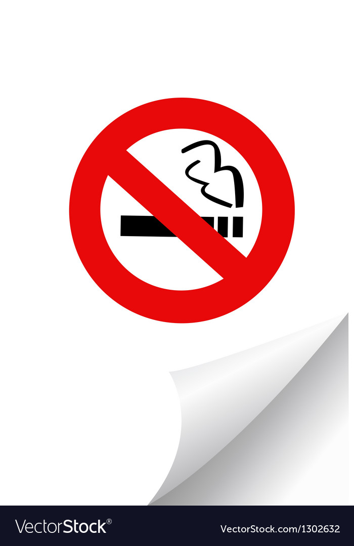 No smoking sign on paper vector | Price: 1 Credit (USD $1)