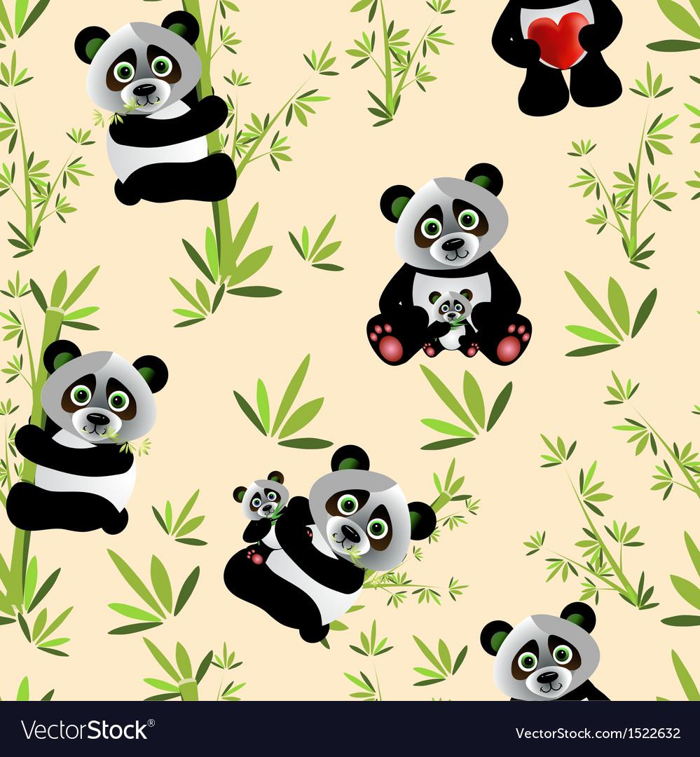 Panda seamless vector   Price: 1 Credit (USD $1)