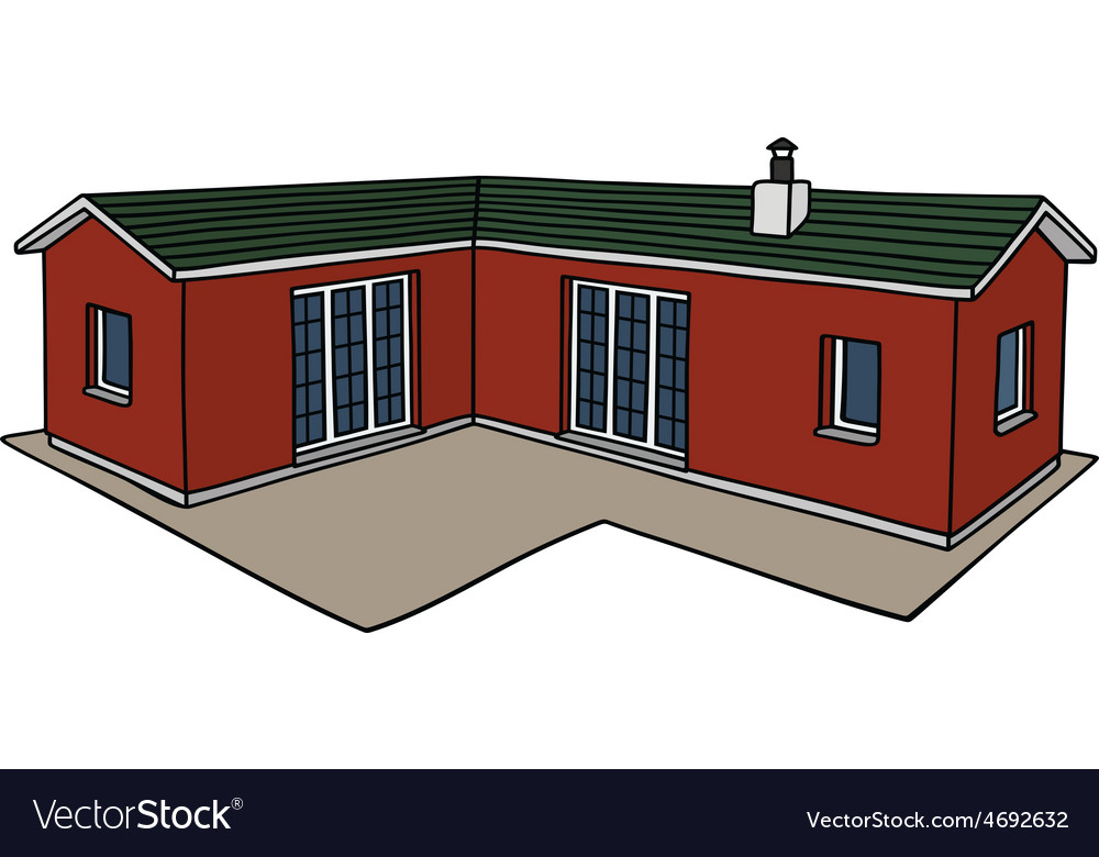 Red small house vector | Price: 1 Credit (USD $1)