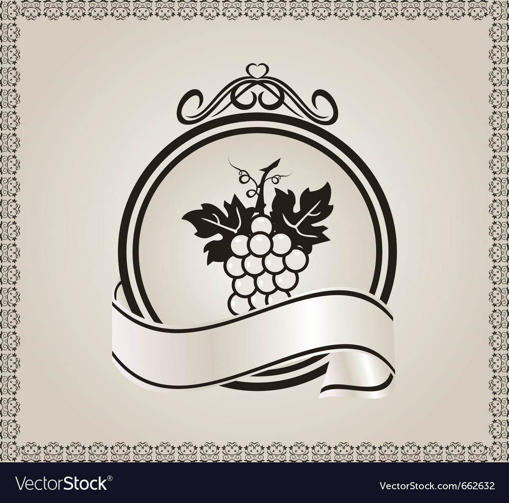 Retro label for packing wine - vector | Price: 1 Credit (USD $1)