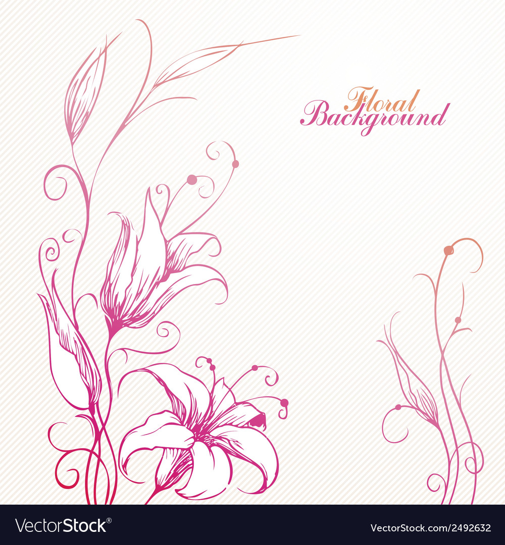 Romantic lily vector | Price: 1 Credit (USD $1)