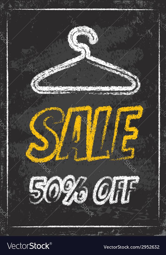 Sale clothes rack chalk vector | Price: 1 Credit (USD $1)