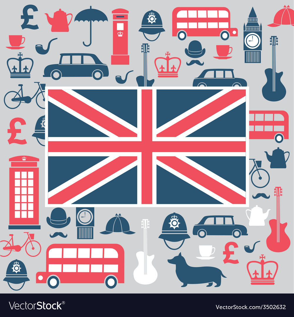 Symbols of great britain vector | Price: 1 Credit (USD $1)