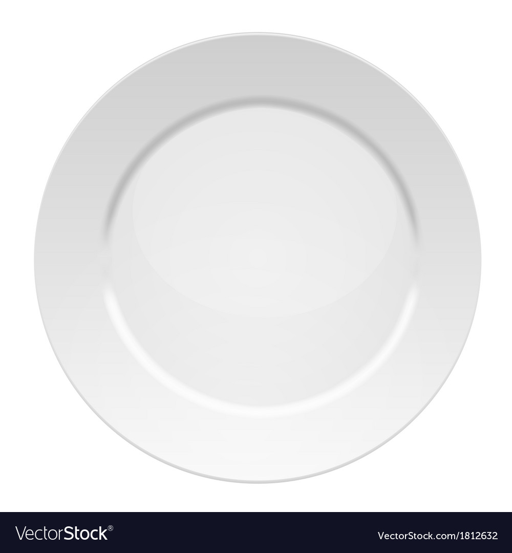 White dinner plate vector | Price: 1 Credit (USD $1)